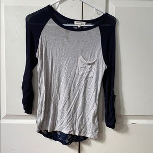 Baseball tee with lace back